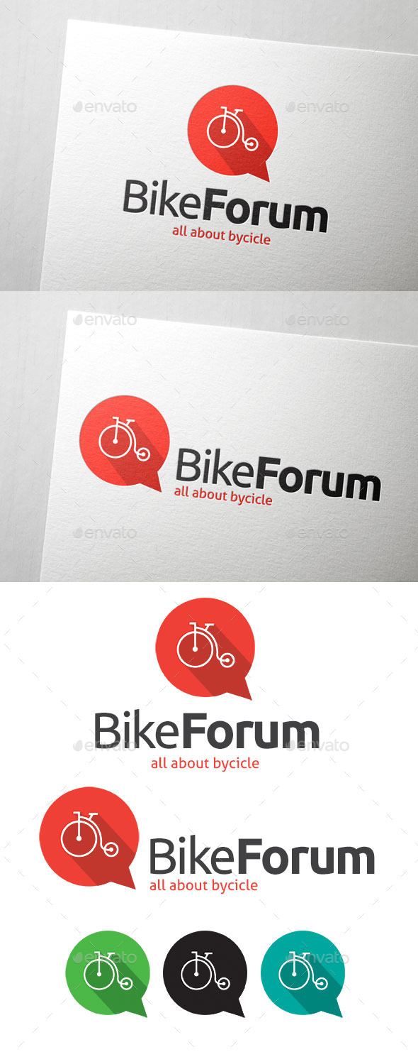 GraphicRiver Bike Forum Logo 11053491
