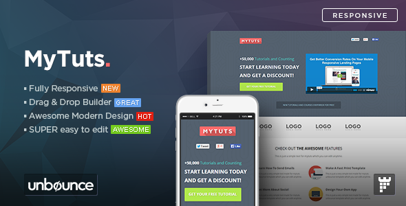 ThemeForest MyTuts Education Unbounce Template 11053619
