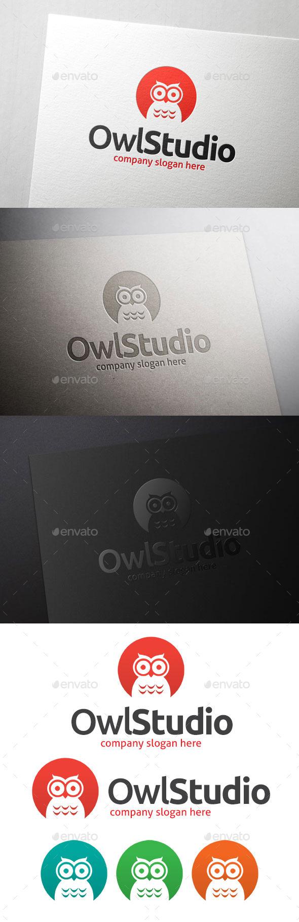 GraphicRiver Owl Bird Studio Logo 11053706