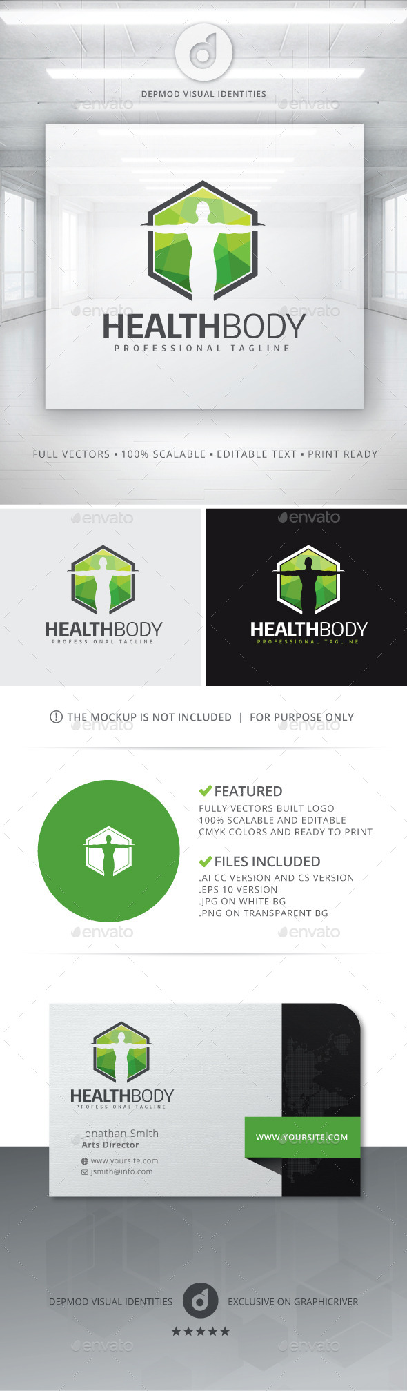 GraphicRiver Health Body Logo 11053994