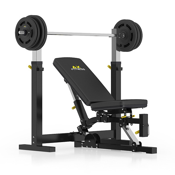 Adjustable Weight Bench - 3DOcean Item for Sale