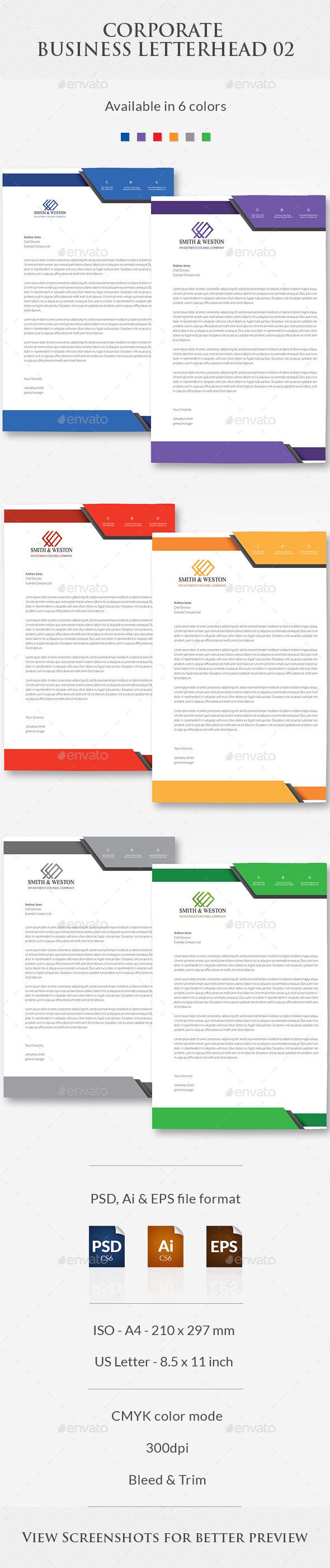 GraphicRiver Corporate Business Letterhead 02 11055203