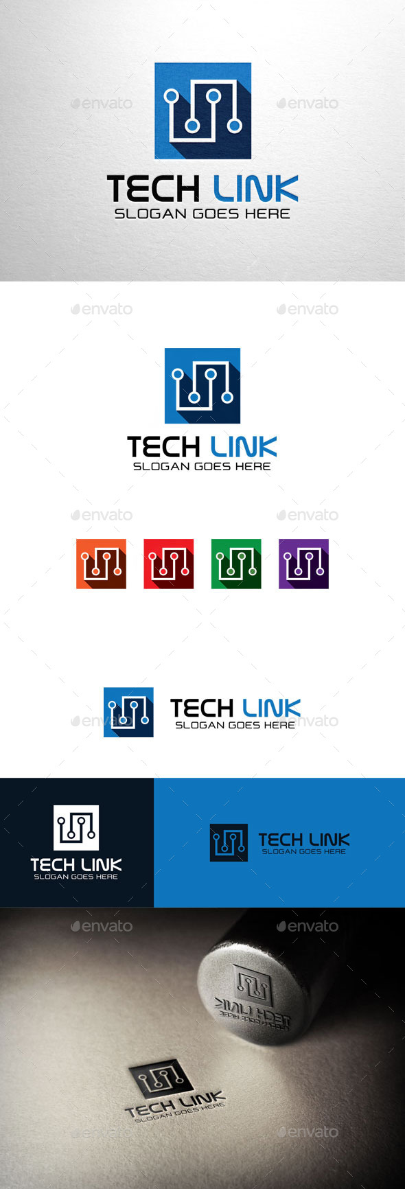GraphicRiver Tech Link Technology Box Logo 11055309