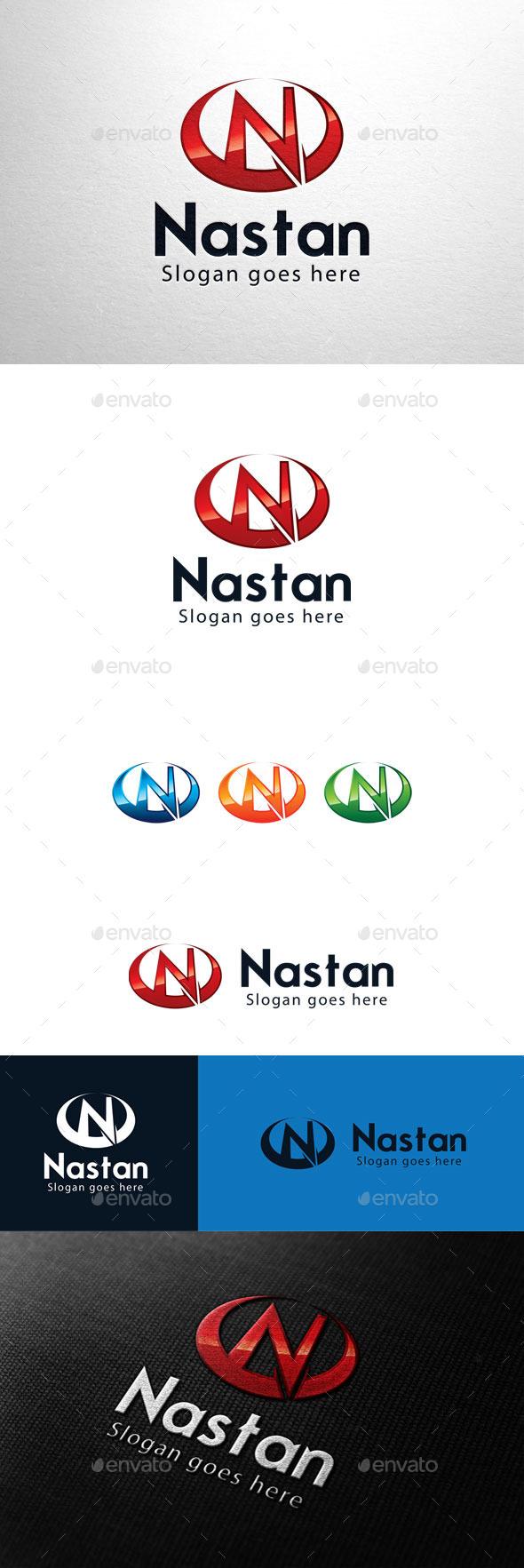 GraphicRiver Nastan Letter N Logo 11055378