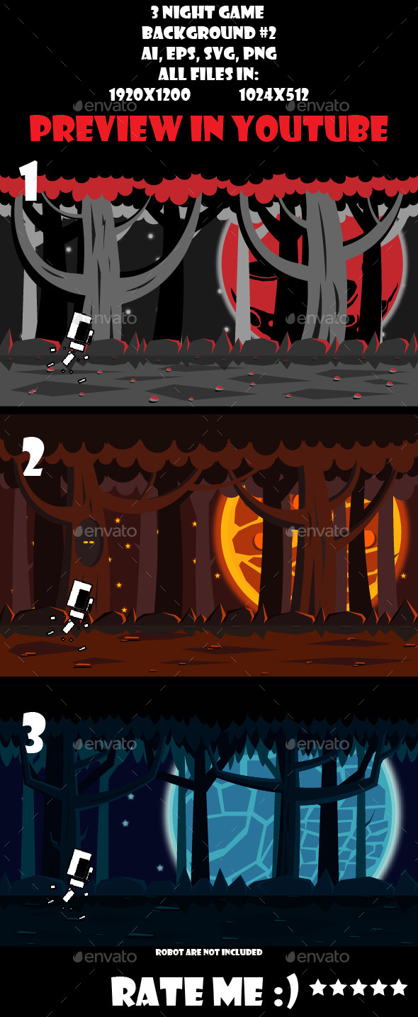 GraphicRiver 3 night game background #2 11055390