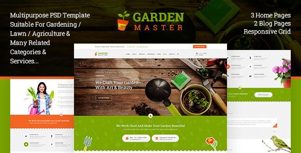 ThemeForest Gardem Master PSD Templates 11055438