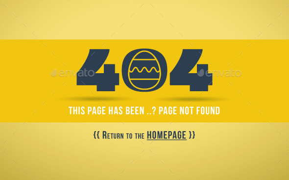GraphicRiver 404 Error Page Egg 11055528