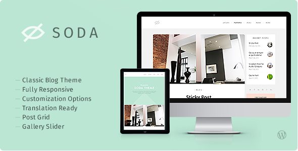 ThemeForest Soda Clean Responsive Blog WordPress Theme 11055854