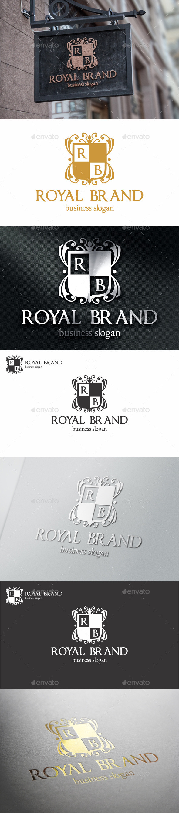 GraphicRiver Royal Brand Apparel Boutique Logo 11056034