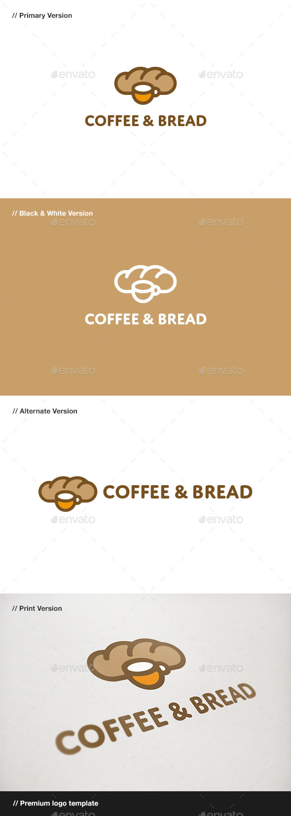 GraphicRiver Coffee & Bread Logo 11025053