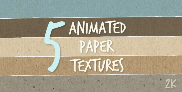 VideoHive 5 Animated Paper Textures 10967787