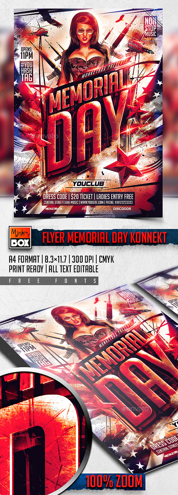 GraphicRiver Flyer Memorial Day Konnekt 11056648
