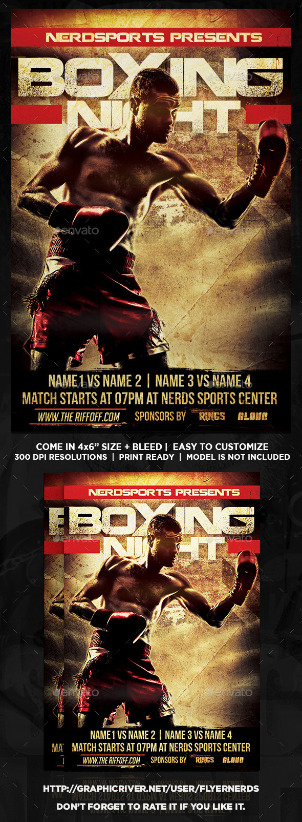 GraphicRiver Boxing Night Sports Flyer 11056808