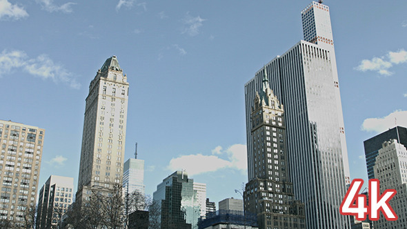 Central Park and Manhattan Buildings