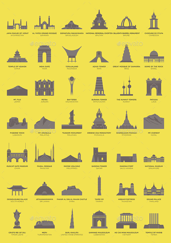 GraphicRiver Asian Landmarks 11056977