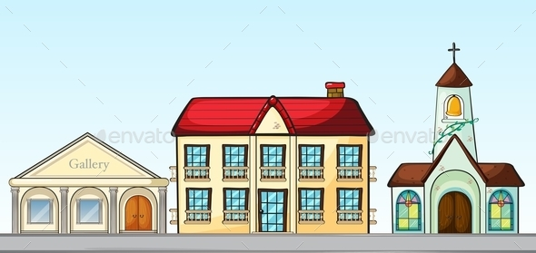 GraphicRiver Buildings on Street 11057091