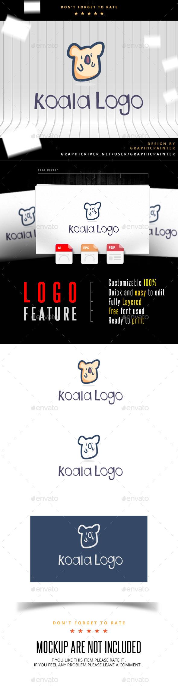 GraphicRiver Koala Logo 11038831