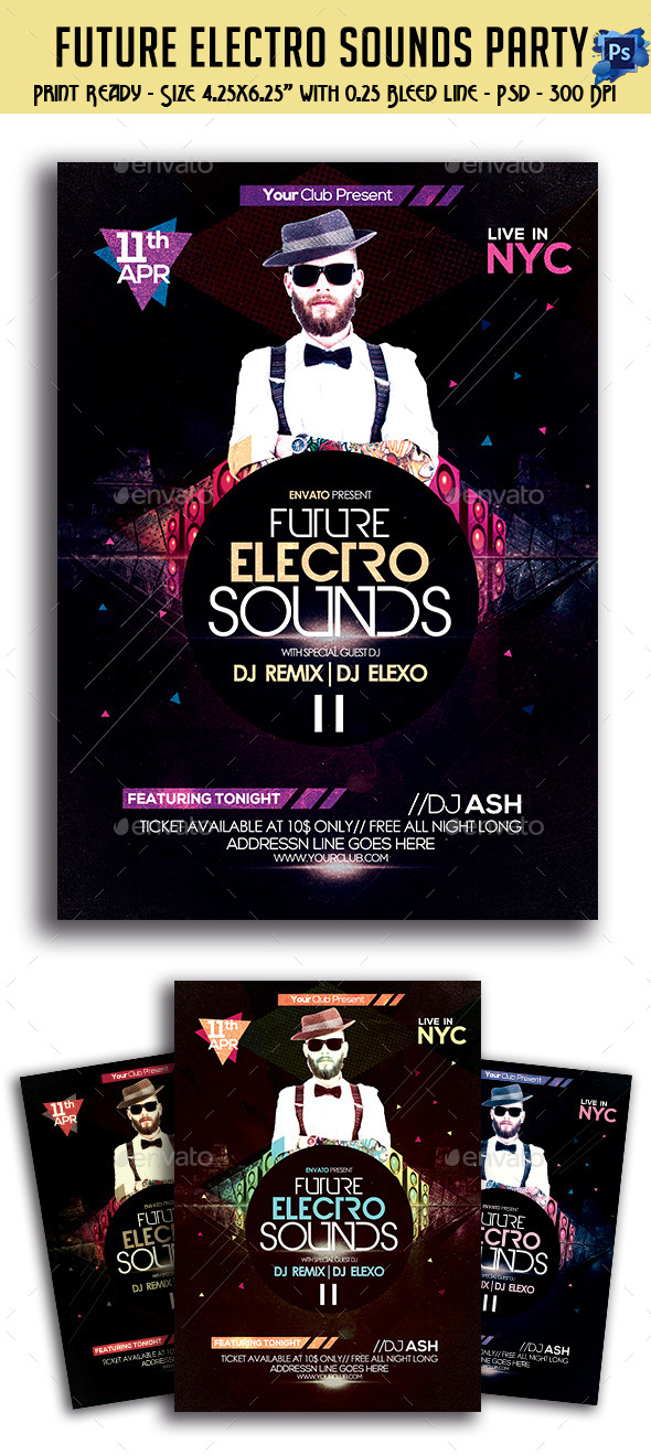 GraphicRiver Future Electro Sounds Flyer 11057136