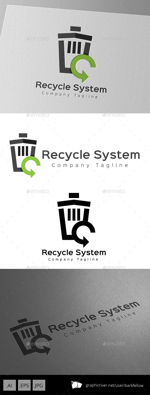 GraphicRiver Recycle Bin System Logo Design 11057152