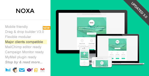 Noxa, Responsive Email with Template Builder - Email Templates Marketing