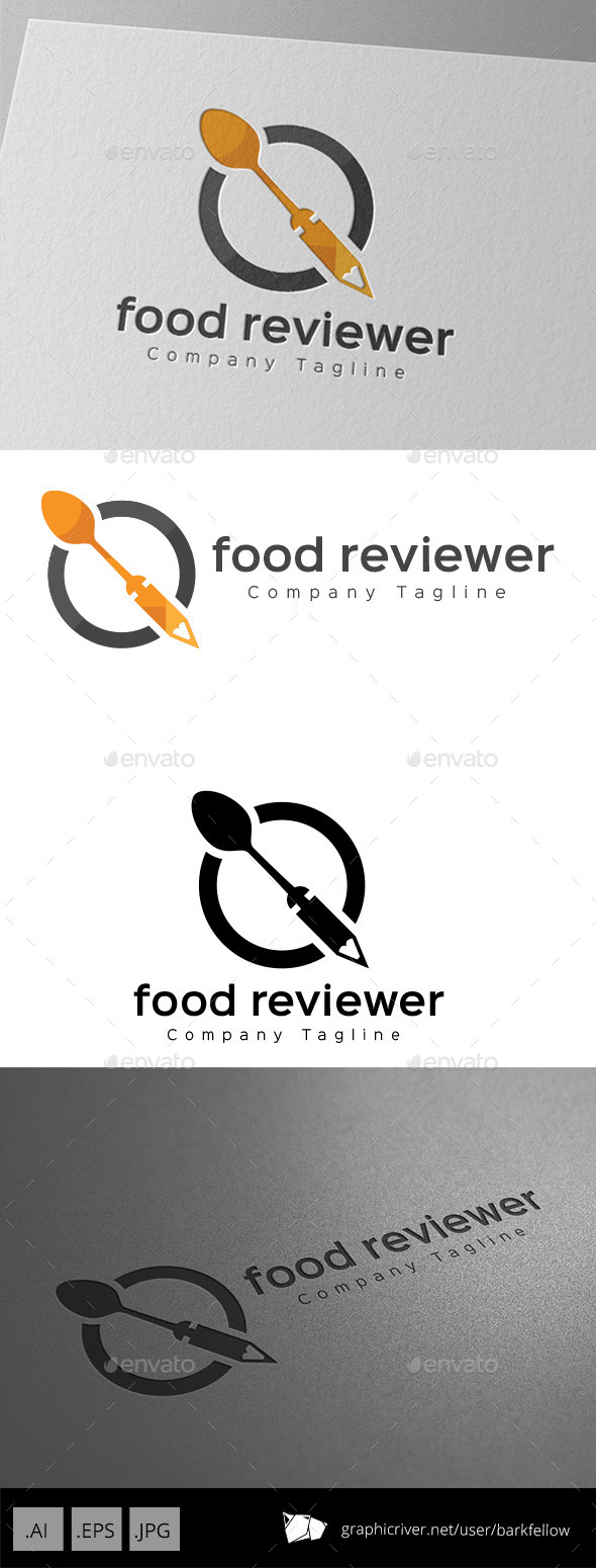 Food Reviewer Logo Design
