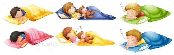 GraphicRiver Kids Sleeping Soundly 11057320