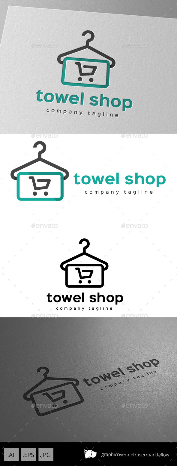 GraphicRiver Towel Shop Logo Design 11057392