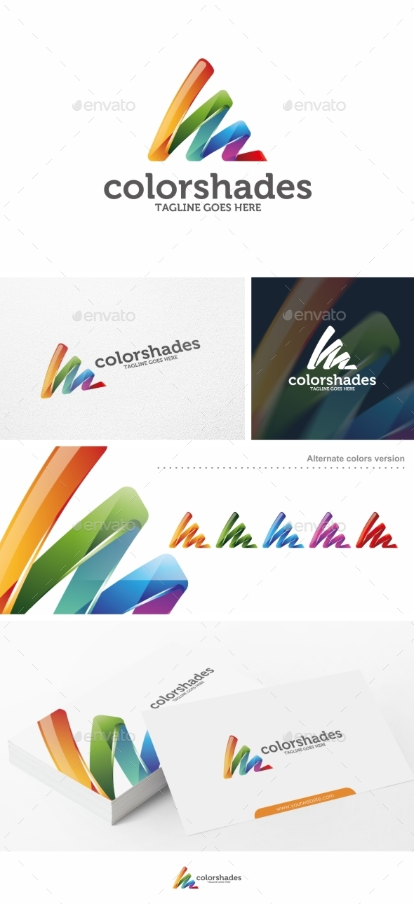 GraphicRiver Color Shades Logo Template 11057403