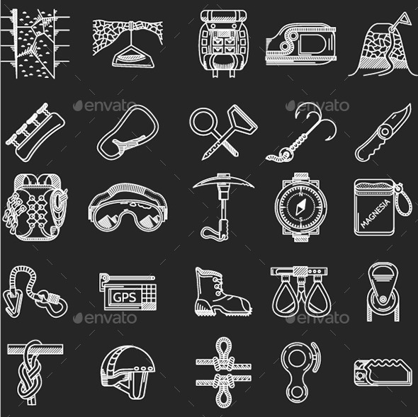 GraphicRiver Rock Climbing Icons 11057541