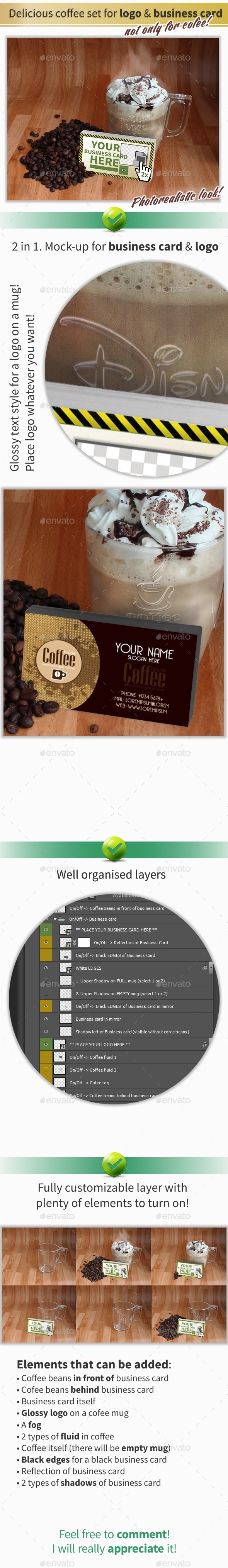 GraphicRiver Delicious Coffee Set for Logo & Business Card 11057603