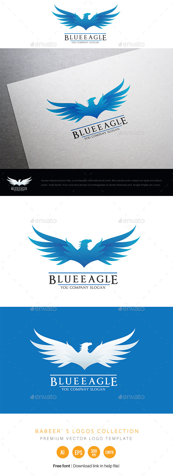 GraphicRiver Blue Eagle 11057738