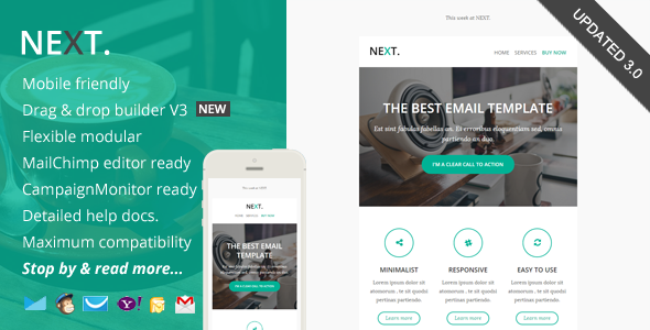 Next, Responsive Email with Online Editor Access