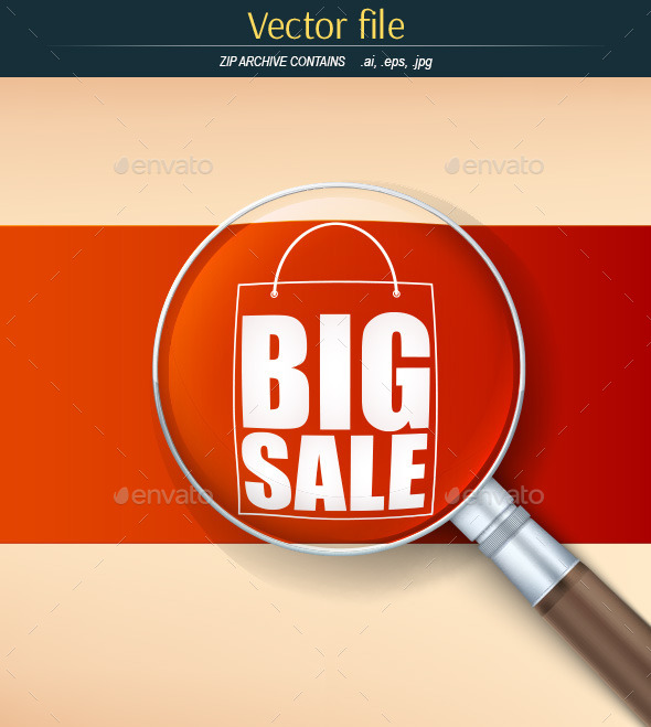 GraphicRiver Advertising Sales with a Magnifying Glass 11058458