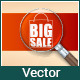 Advertising Sales with a Magnifying Glass - GraphicRiver Item for Sale