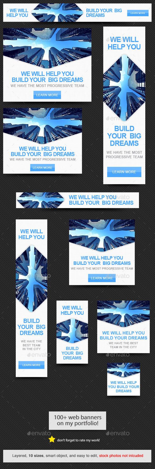 GraphicRiver Dream Builder Web Banner 11058510