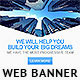 Dream Builder Web Banner - GraphicRiver Item for Sale