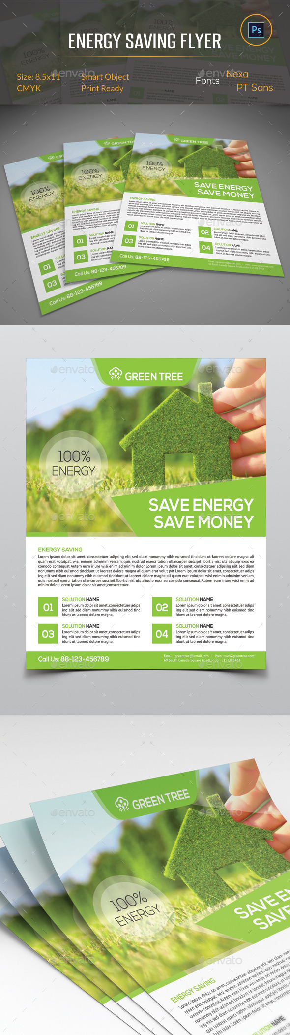 GraphicRiver Energy Saving Flyer 11058550