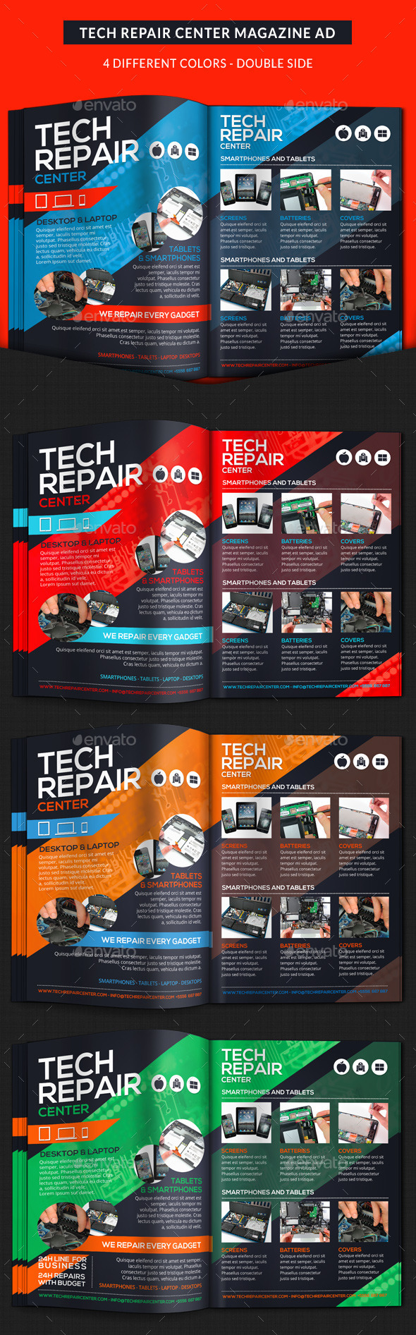 GraphicRiver Tech Repair Center Magazine Ad 11058555