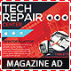 Tech Repair Center Magazine Ad - GraphicRiver Item for Sale