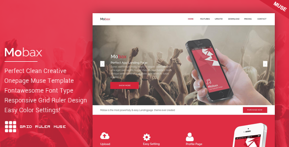 ThemeForest Mobax App Landing Page Muse Templates 11001484