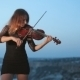 Concentrated Young Violinist Playing While - VideoHive Item for Sale