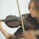 Beautiful Girl Playing The Violin Standing In - VideoHive Item for Sale