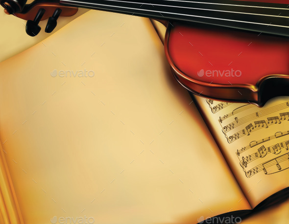 GraphicRiver Background with Violin 11058971