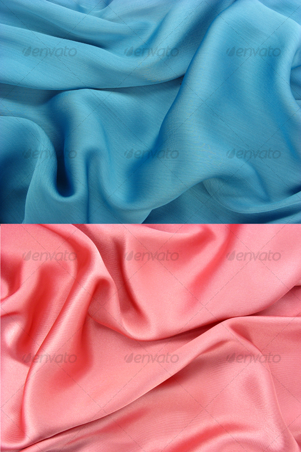 GraphicRiver Wrinkled shiny blue fabric 45048