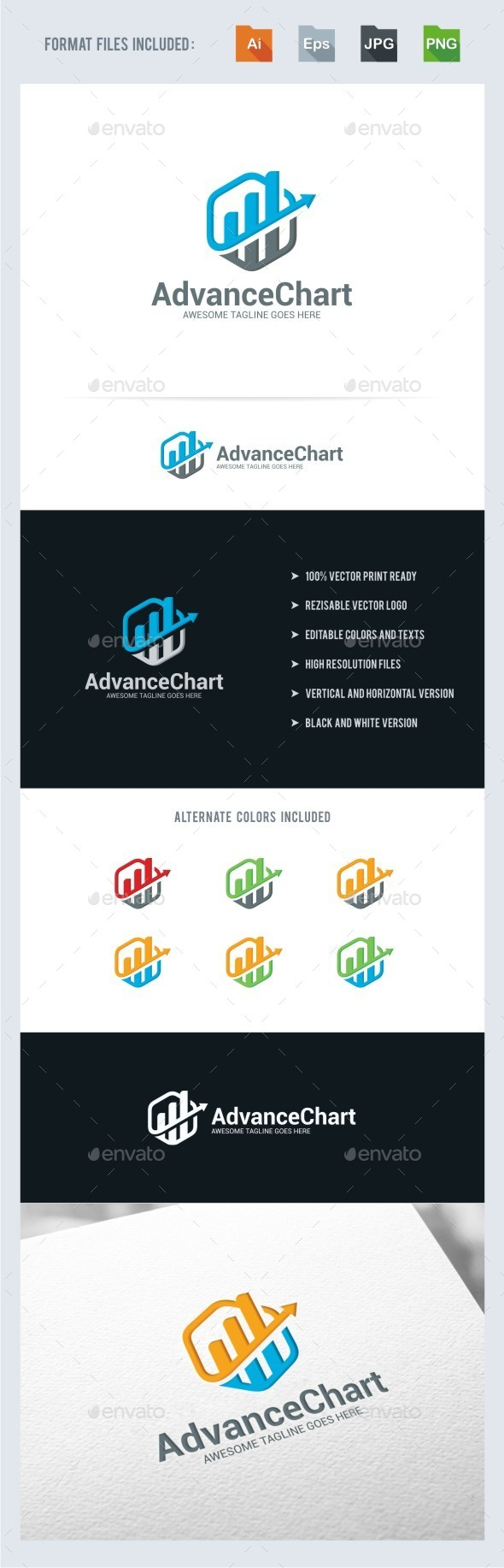 GraphicRiver Advance Chart Logo Template 11059363