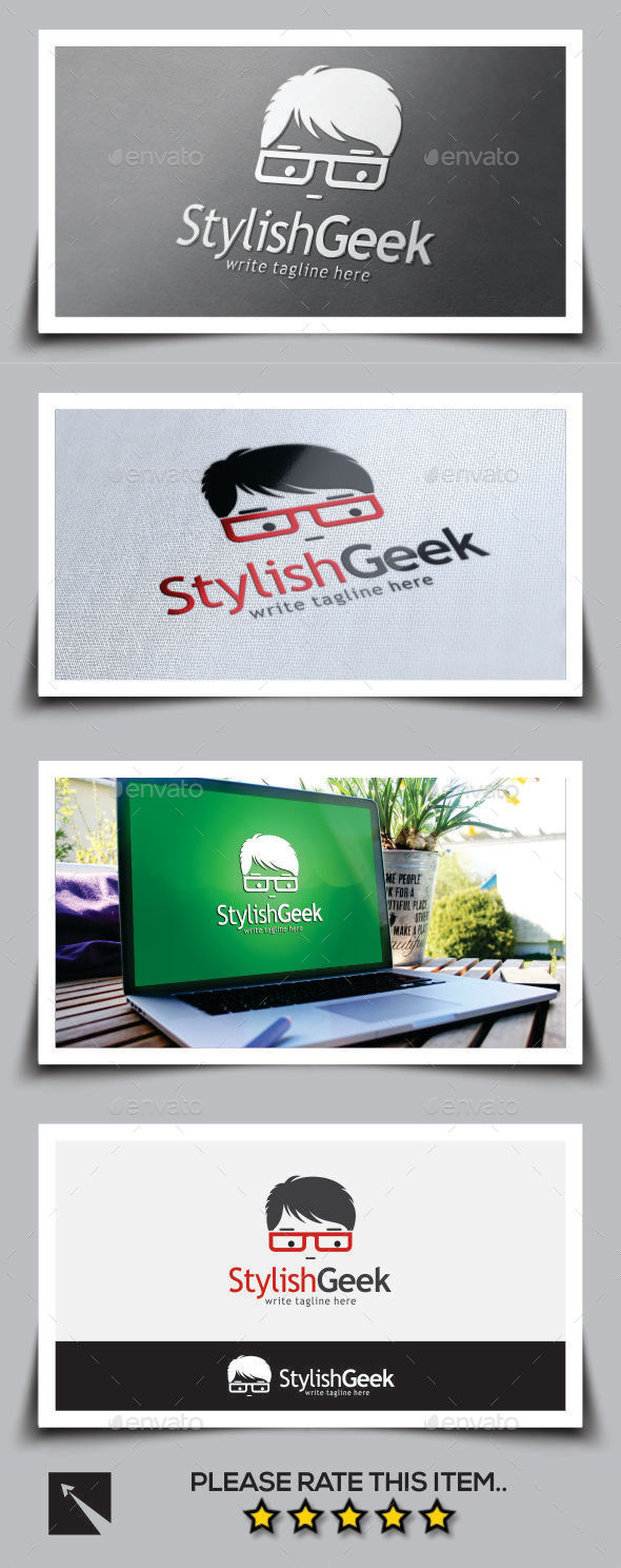 GraphicRiver Stylish Geek Logo Template 11059414