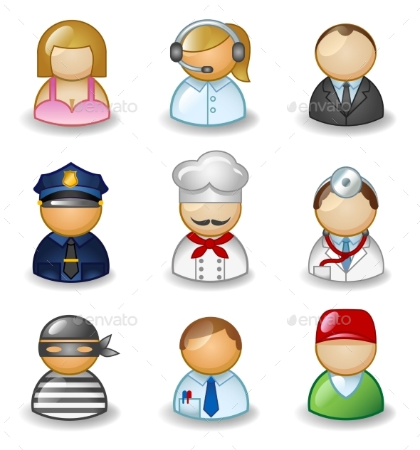 GraphicRiver Avatars as Different Professions 11059652