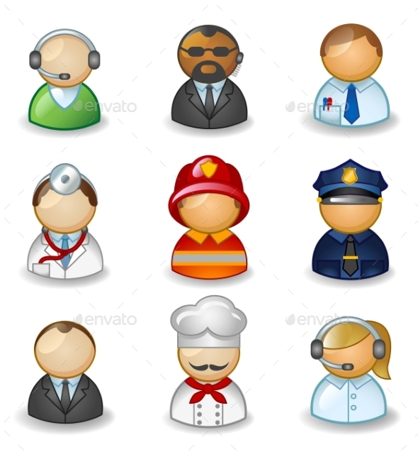 GraphicRiver Avatars as Different Professions 11059661