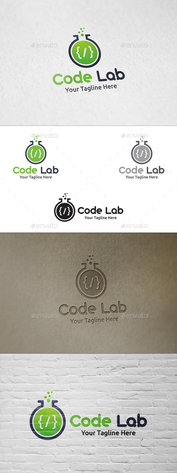 GraphicRiver Code Lab Logo Template 11059764