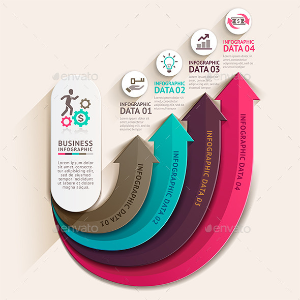 GraphicRiver Abstract Arrow Business Infographics Template 11060043